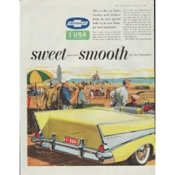 "1957 Chevrolet Ad ""sweet * smooth * sassy"""