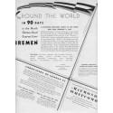 "1937 Raymond-Whitcomb Cruise Ad ""Bremen"""
