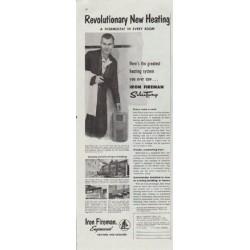 "1957 Iron Fireman Ad ""Revolutionary New Heating"""