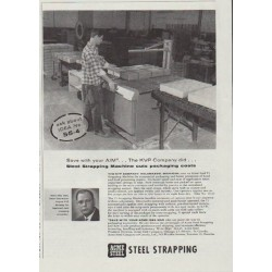 "1957 Acme Steel Ad ""Steel Strapping"""