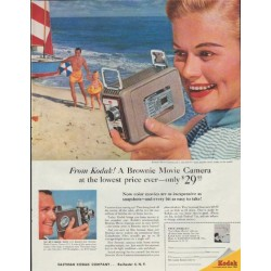 "1957 Kodak Ad ""A Brownie Movie Camera"""