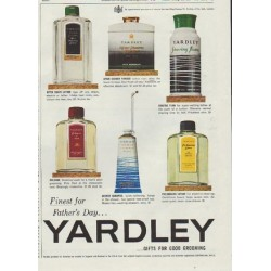 "1957 Yardley Ad ""Finest for Father's Day"""