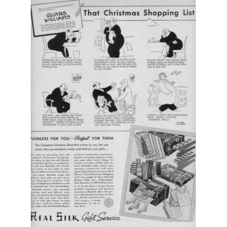 "1937 Realsilk Ad ""Gluyas Williams"""