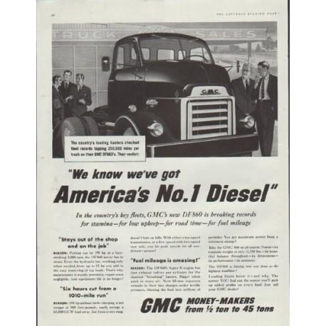 """1957 GMC Trucks Ad """"GMC's new DF860"""""""
