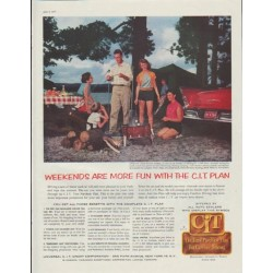 "1957 C.I.T Credit Corporation Ad ""Weekends are more fun"""
