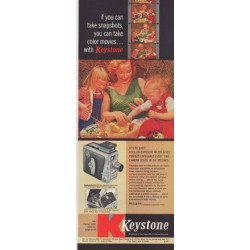 "1957 Keystone Ad ""if you can take snapshots"""