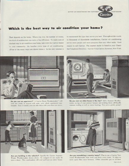 1957 Carrier Air Conditioner Vintage Ad Quot Which Is The Best