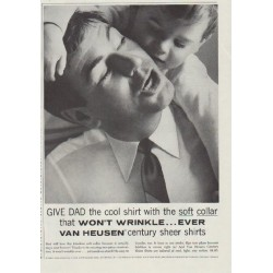 "1957 Van Heusen Ad ""Give Dad the cool shirt"""