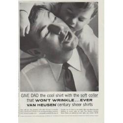 "1957 Van Heusen Ad ""Give Dad the cool shirt"""