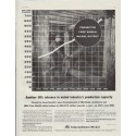 """1957 International Nickel Ad """"Projected Free World Nickel Output"""""""