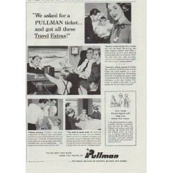 "1957 Pullman Ad ""We asked for a Pullman ticket"""