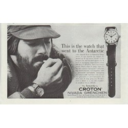 "1957 Croton Ad ""the watch that went to the Antarctic"""
