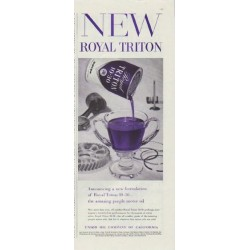 "1957 Union Oil Company Ad ""New Royal Triton"""