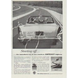 "1957 Asphalt Institute Ad ""Starting off"""