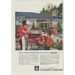 "1957 Allegheny Stainless Ad ""you're buying wisely"""