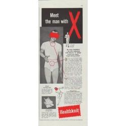"1957 Healthknit Ad ""Meet the man"""