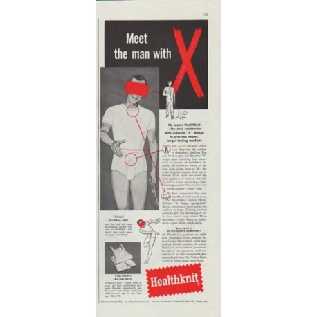 "1957 Healthknit Ad ""Meet the man"""