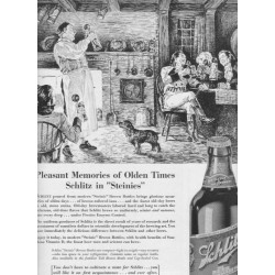 "1937 Schlitz Beer Ad ""Pleasant Memories of Olden Times"""