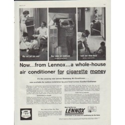 "1957 Lennox Ad ""a whole-house air conditioner"""