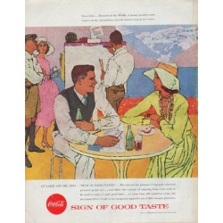 "1957 Coca-Cola Ad ""At Lake Louise"""