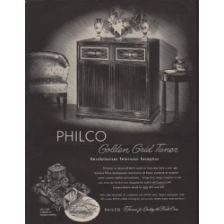 "1952 Philco Television Ad ""Golden Grid Tuner"""