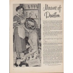 "1952 New York Life Insurance Company Ad ""Measure of Devotion"""