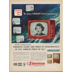 "1952 Emerson TV Ad ""We choose Emerson"""