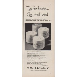 "1952 Yardley Ad ""Two for beauty"""
