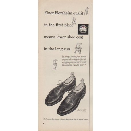 "1952 Florsheim Ad ""Finer Florsheim Quality"""