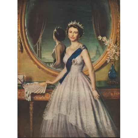 """1952 Queen Elizabeth Portrait Article """"Conscientious Artist"""""""