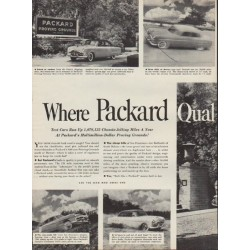 "1952 Packard Ad ""Quality Is Confirmed!"""