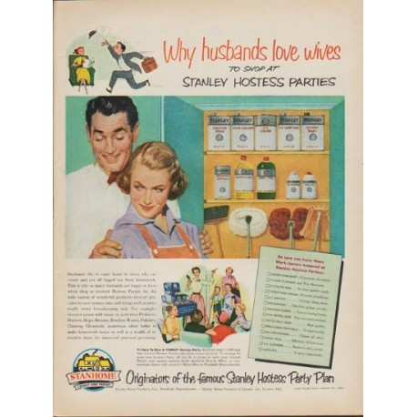 "1952 Stanley Home Products Ad ""Why husbands love wives"""