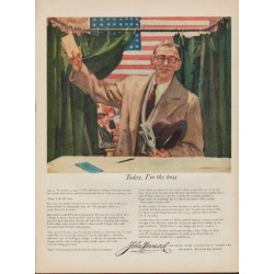 "1952 John Hancock Ad ""Today, I'm the boss"""