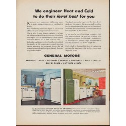 "1952 General Motors Ad ""We engineer Heat and Cold"""