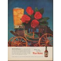 "1952 Four Roses Whiskey Ad ""Worth holding up"""