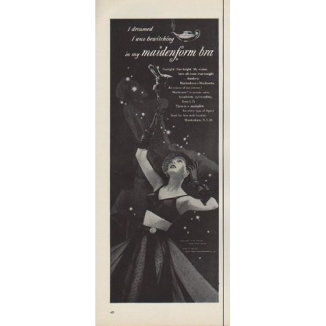 "1952 Maidenform Ad ""I dreamed I was bewitching"""