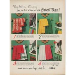 "1952 Cannon Towels Ad ""Same bathroom"""