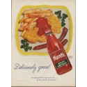 "1952 Hunt's Catsup Ad ""Deliciously yours!"""