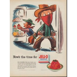 "1952 Jell-O Ad ""Now's the time for Jell-O"""
