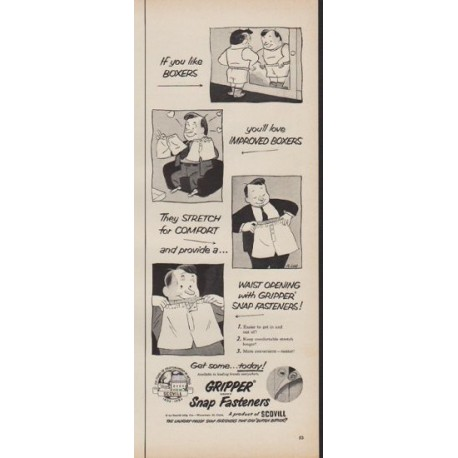 "1952 Gripper Ad ""If you like Boxers"""