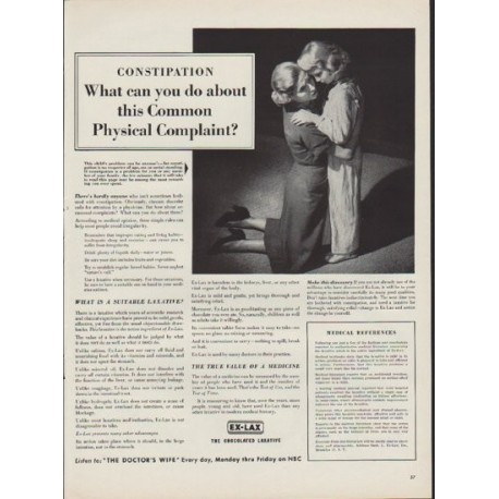 "1952 Ex-Lax Ad ""What can you do"""