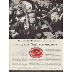 "1937 Sealtest Ad ""John Snow - London Epidemic Of 1854"""