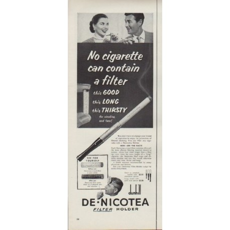 "1952 Denicotea Ad ""No cigarette"""