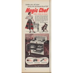 "1952 Magic Chef Ad ""Outlaw your old stove"""