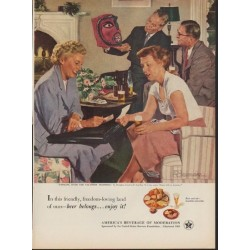 """1952 United States Brewers Foundation Ad """"Vacation Trophies"""""""