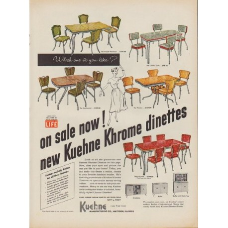 "1952 Kuehne Khrome Ad ""Which one do you like?"""