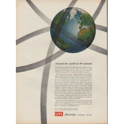 "1952 LIFE Filmstrips Ad ""Around the world in 40 minutes"""