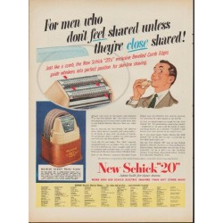 "1952 Schick Ad ""close shaved"""