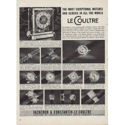 "1952 LeCoultre Ad ""The Most Exceptional Watches"""