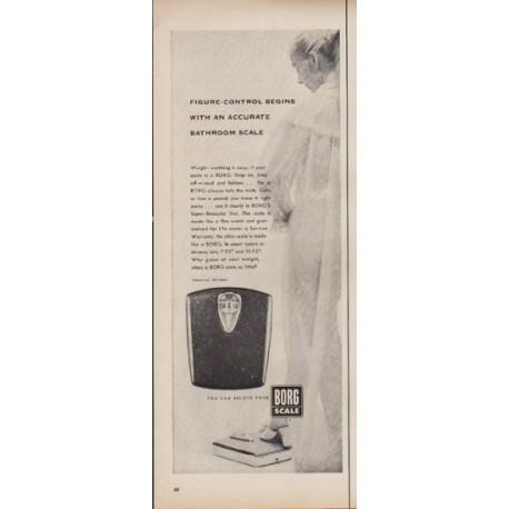 """1952 Borg Scale Ad """"Accurate Bathroom Scale"""""""